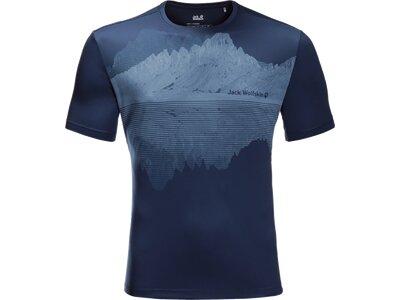 JACK WOLFSKIN Herren Shirt PEAK GRAPHIC Blau