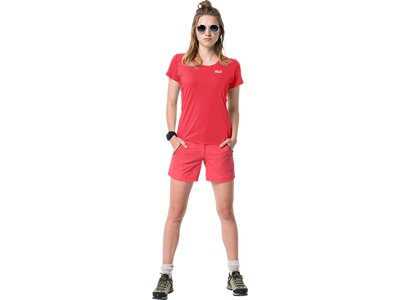 JACK WOLFSKIN Damen Funktionsshirt NARROWS Rot