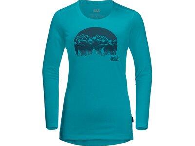 JACK WOLFSKIN Damen Shirt CROSSTRAIL GRAPHIC LS Blau