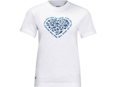 JACK WOLFSKIN Damen Shirt SEA GROUND T W Weiß