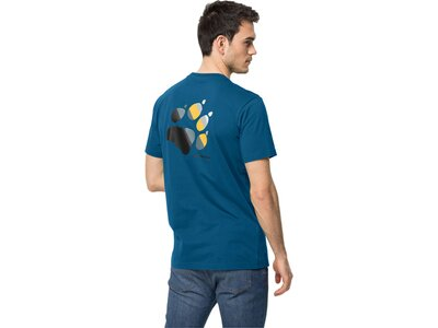 JACK WOLFSKIN Herren Shirt RAINBOW PAW T M Blau