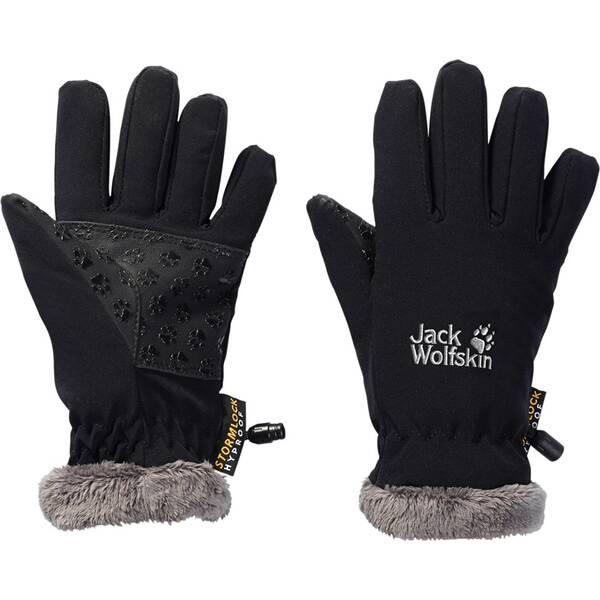 JACK WOLFSKIN Kinder Handschuhe Softshell Highloft Glove Schwarz