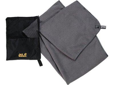 JACK WOLFSKIN Reisehandtuch WAFFLE TOWEL XL Grau