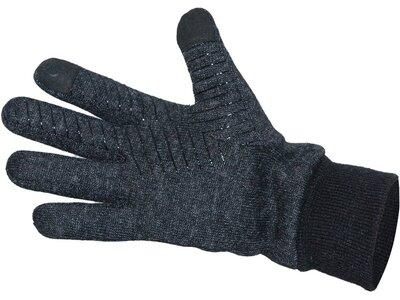 ARECO Strickfunktionshandschuh Microfleece Touch Grip schwarz