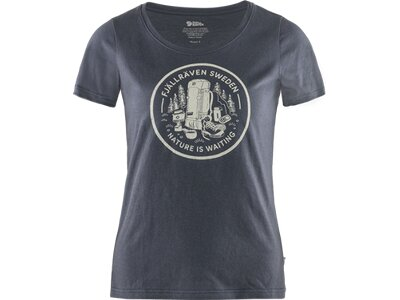 FJÄLLRÄVEN Damen Shirt Fikapaus Grau