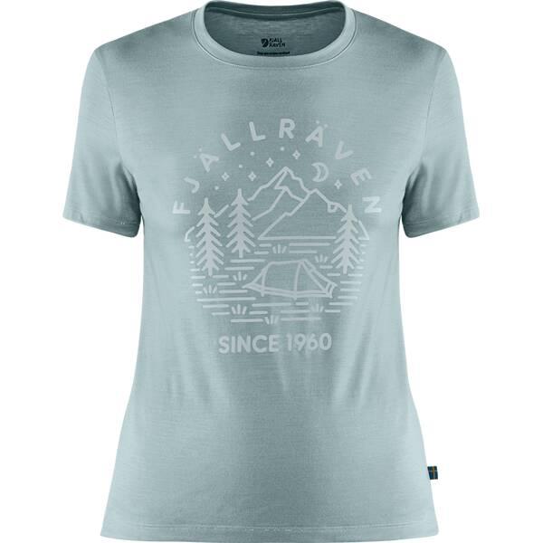 FJÄLLRÄVEN Damen Shirt Abisko Wool Tältplats SS