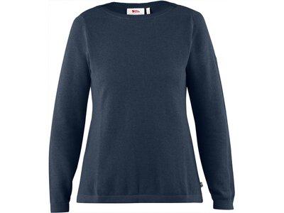 FJÄLLRAVEN Damen Sweatshirt High Coast Knit W Blau