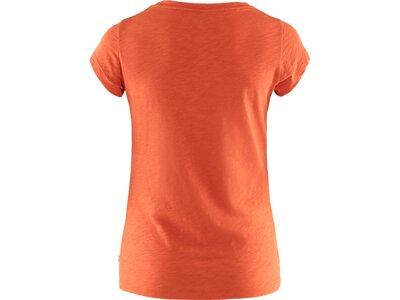"FJÄLLRÄVEN Damen T-Shirt ""Logo Stamp T-Shirt W"" Rot"