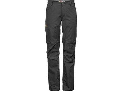 FJÄLLRAVEN Damen Funktionshose Daloa Shade Zip-Off Trousers W Grau