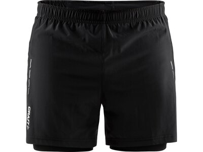 CRAFT Herren Running-Shorts ESSENTIAL 2-IN-1 Schwarz