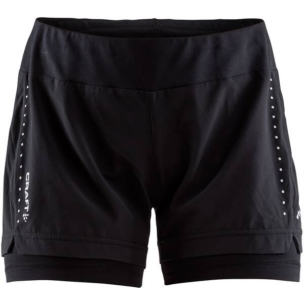CRAFT Damen Running-Shorts ESSENTIAL 2-IN-1