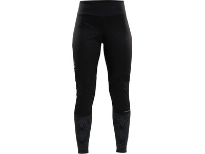 CRAFT Damen WARM TRAIN WIND TIGHTS Schwarz