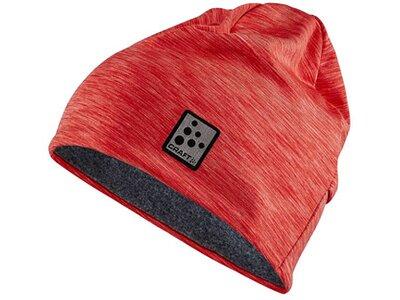CRAFT Damen Mütze Microfleece ponytail Hat Rot