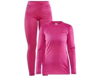 CRAFT Damen Wäscheset CORE Warm Baselayer Set W Pink