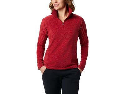 COLUMBIA Damen Pullover Glacial IV Print 1/2 Zip Rot