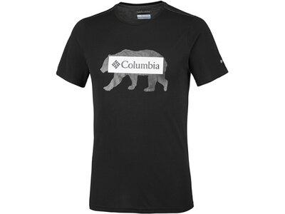 COLUMBIA Herren T-Shirt Box Logo Bear Tee Schwarz