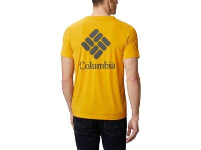COLUMBIA Herren Shirt Maxtrail SS Logo Gelb