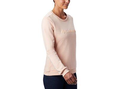 COLUMBIA Damen Sweatshirt Columbia Logo Crew Orange