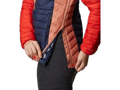 COLUMBIA Damen Powder Lite™ Isolierte Jacke mit Kapuze Blau