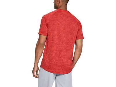 UNDER ARMOUR Herren Hemd UA TECH GRAPHIC SS Rot