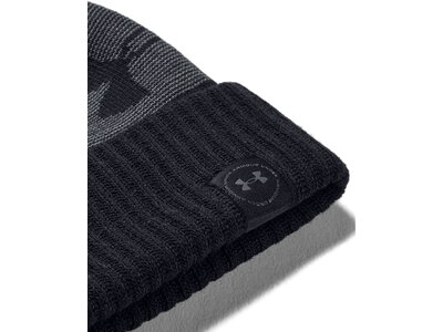 UNDER ARMOUR Herren Mütze Big Logo Pom Beanie Schwarz