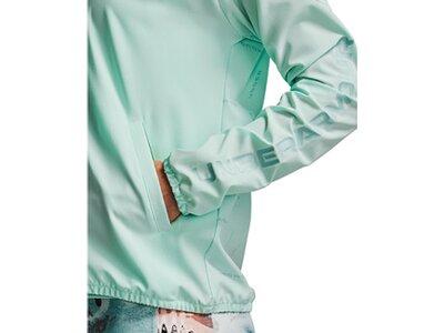 UNDER ARMOUR Damen Jacke Woven Printed Hooded Jacket Grün