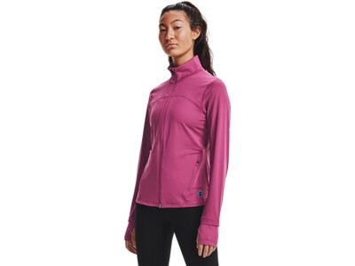UNDER ARMOUR Damen UA RUSH™ Oberteil mit durchgehendem Zip Pink