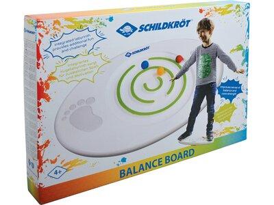 SCHILDKRÖT Kids BALANCE BOARD mit Kugellabyrinth und 3 Kugeln Weiß