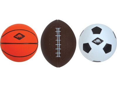 SCHILDKRÖT 3 in 1 MINI BALLS SET, 1 Soccer-, 1 Basket-, 1 Football Grau