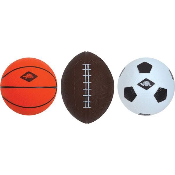 SCHILDKRÖT 3 in 1 MINI BALLS SET, 1 Soccer-, 1 Basket-, 1 Football
