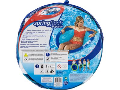 SCHILDKRÖT FUNSPORTS SwimWays SPRINGFLOAT PAPASAN Silber
