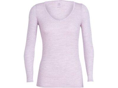 "ICEBREAKER Merino Damen T-Shirt ""Siren Long Sleeve Sweetheart"" Grau"