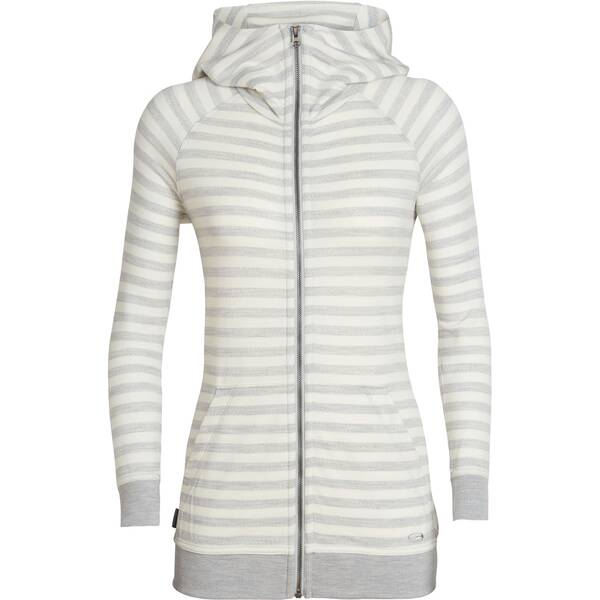 "ICEBREAKER Merino Damen Funktionsjacke ""Crush Long Sleece Zip Hood"""