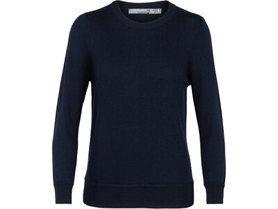 ICEBREAKER Merino Damen Pullover Muster Crewe Sweater Schwarz