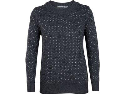 ICEBREAKER Merino Damen Pullover Waypoint Crewe Sweater Schwarz