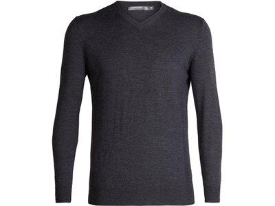 ICEBREAKER Merino Herren Pullover Shearer V Sweater Grau