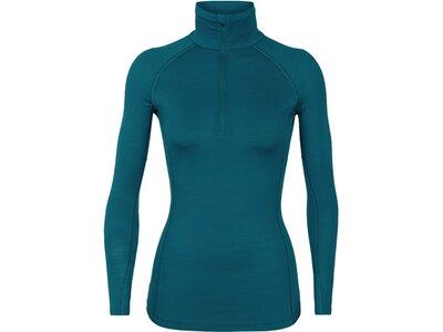 ICEBREAKER Damen Longleeve 150 Zone LS Half Zip Blau
