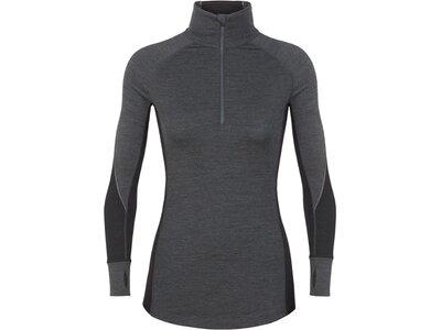 "ICEBREAKER Damen Funktionsunterhemd ""Bodyfitzone 260 Zone Long Sleeve Half Zip"" Grau"