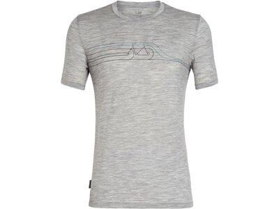 ICEBREAKER Merino Herren T-Shirt Tech Lite SS Crewe Cadence Pulse Silber