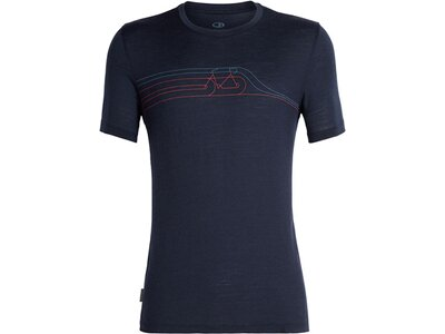 ICEBREAKER Merino Herren T-Shirt Tech Lite SS Crewe Cadence Pulse Schwarz