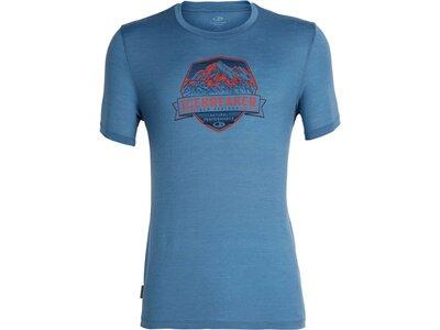 ICEBREAKER Merino Herren T-Shirt Tech Lite SS Crewe Cook Crest Blau