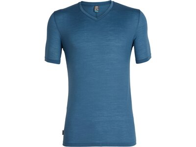 ICEBREAKER Merino Herren T-Shirt Solace SS V Blau