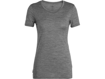 ICEBREAKER Merino Damen T-Shirt Tech Lite SS Low Crewe Panax Grau