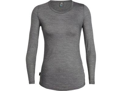 ICEBREAKER Merino Damen T-Shirt Sphere LS Low Crewe Grau