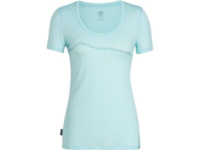 ICEBREAKER Merino Damen T-Shirt Tech Lite SS Scoop Rangitoto Triple Blau
