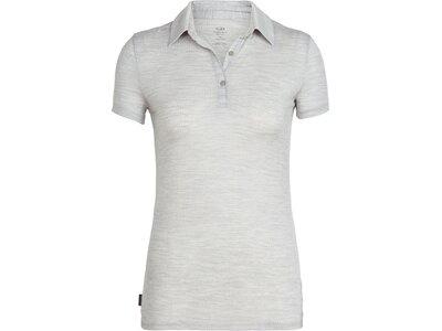 "ICEBREAKER Damen Poloshirt ""Tech Lite"" Kurzarm Grau"