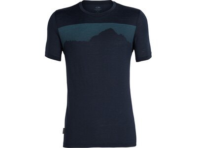ICEBREAKER Merino Herren T-Shirt Tech Lite SS Crewe Cook By Night Schwarz