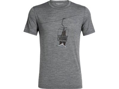"ICEBREAKER Herren T-Shirt ""Tech Lite Short Sleeve Crewe Bear Lift"" Grau"
