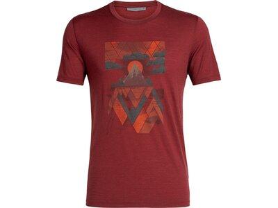 """ICEBREAKER Herren T-Shirt """"Tech Lite Short Sleeve Crewe Sunset Geo"""" Braun"""