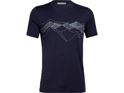 """ICEBREAKER Herren T-Shirt """"Tech Lite SS Crewe Peak Patter"""" Schwarz"""